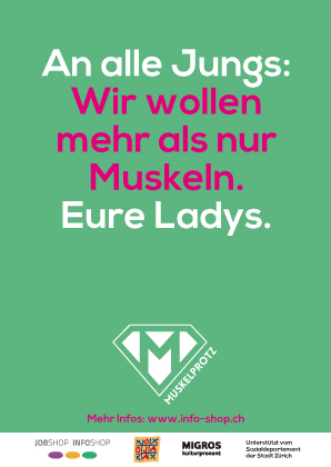 Postkarte Muskelprotz