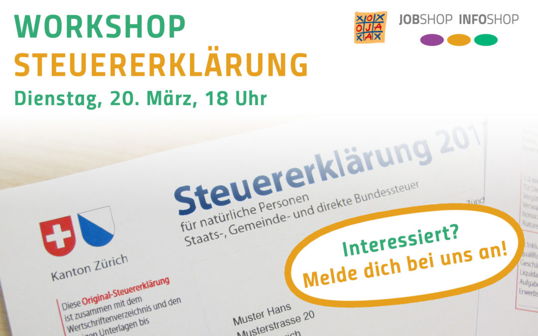 Workshop Steuererklärung – 20. März 2018