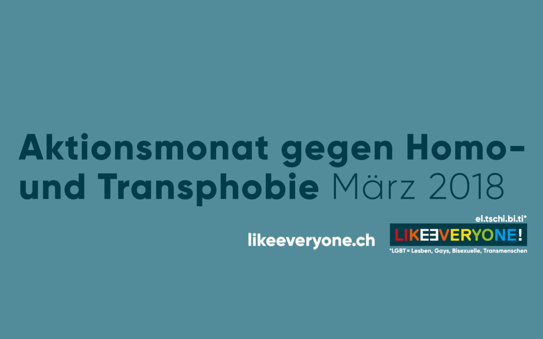 LIKEƎVERYONE: Aktionsmonat gegen Homo- und Transphobie