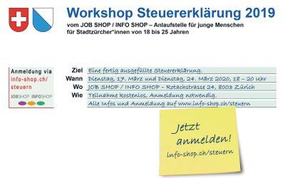 Workshop Steuererklärung ausfüllen