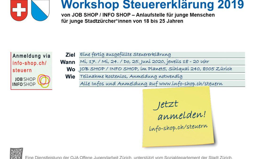 Workshop Steuererklärung: Neue Termine & letzte Gelegenheit!
