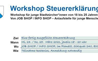 Workshop Steuererklärung: Jetzt anmelden